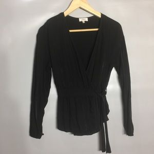Wilfred black wrap front top